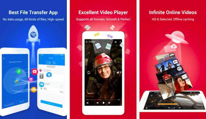 SHAREit file transfer app Android